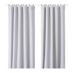 IKEA VILBORG Curtains, gray tone on tone horizontal micro pinstripe blockout curtain