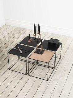 Brass and Black decor // Geometric // contemporary