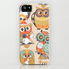 Cute owls colors pattern iPhone  iPod Case - $35.00 #owls  #phonecase #phone | See more about color patterns, owls and ipod cases.