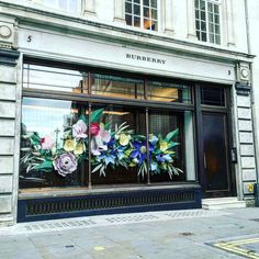 "BURBERRY, London,UK, ""Goodbye winter so long snow.....its time to watch the flowers grow!"", pinned by Ton van der Veer"