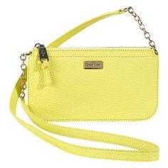 Village Crossbody Bag in Lemon Ice- Colehaan. $128