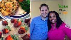 Romantic Vegan Dinner for Two| Vegan Cooking w/ My Hubby | Brown Vegan {too cute!}