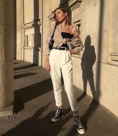 Korean Fashion Winter, Converse Style, Ootd, Fashion Outfits, Womens Fashion, Daily Fashion, Style Guides, Spring Outfits, Style Me