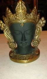 Tara Head, Brass with Black and Gold colour finish, 4 inches