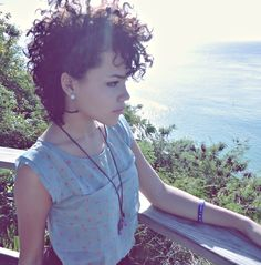 short curly kinky black hair