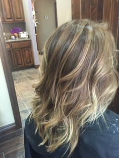Light brown with honey highlights