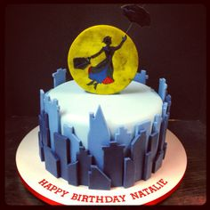 Mary Poppins Cake @Rachel Gladis Cakes www.citycakesny.com www.facebook.com/citycakes