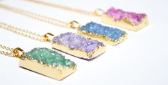 Druzy Crystal Necklace Druzy Necklace Gift by PoppyKittenDesigns