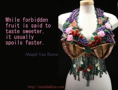 Items similar to Virgin - Wearable Art (bra) knitted, beaded, metalwork (All silver bugs on this piece are available separately) on Etsy World Of Wearable Art, Dressed To Kill, Metal Working, Forbidden Fruit, Inspirational Quotes, Wisdom, Jewelry Designer, Couture, Alter Ego