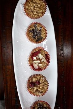 Baked Oatmeal Cups for On-the-Go Nutrition! #breakfast #recipe