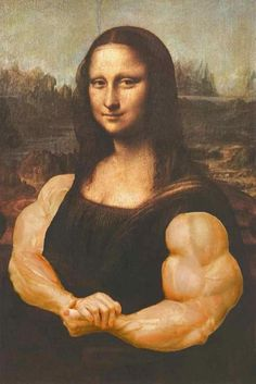 Mona Lisa after biceps day