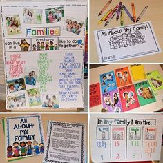 Families anchor chart, class book, magazine collage, emergent reader, and graph is perfect for a family or back to school theme. For preschool, pre-k, or kindergarten.