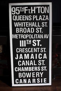 DIY subway sign