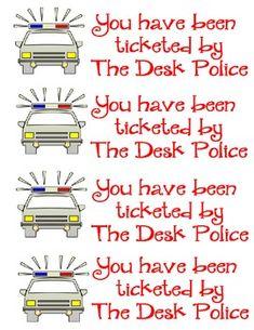 Police Desk Tickets