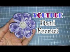 COMO FAZER FLOR DE FITA DE CETIM - TUTORIAL PASSO A PASSO - RIBBON FLOWER - Dani Ferrari. - YouTube