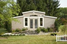 """""""Granny Pods"""": A High-Tech Option for Elderly Living and Caregiving.  Would you consider living in a """"granny pod"""" yourself or investing in one for your loved ones? (Tech Home Floor Plans)"""