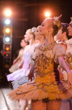 """Pittsburgh Ballet Theatre: Taken from the wings... #fairies of """"The Sleeping Beauty"""" Artists: Hannah Carter, Olivia Kelly, Julia Erickson, Danielle Downey, Caitlin Peabody, Molly Wright Photo: Aimee DiAndrea"""