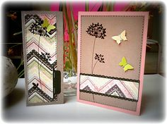Clean and simple dandelion scrapbooking cards. // Cartes scrap clean and simple pissenlit. // See more at / Voir plus sur : http://scrap-ines.over-blog.com