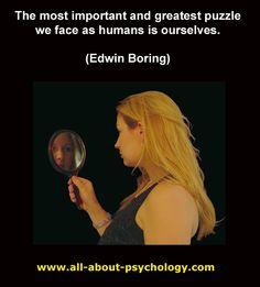 charming life pattern: edwin boring - quote - psychology