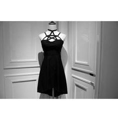 Rebelsmarket punk rock designer lace up style black dresses  dresses 7