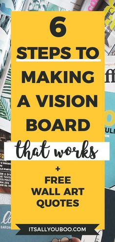 Vision board is a powerful tool that helps you to reach your goals and activate the law of attraction. Find out how to make a vision board that works. Diy Blanket Ladder, How To Make Labels, Bath Bomb Recipes, Creating A Vision Board, Diy Headboards, Wall Art Quotes, Positive Mindset, Success Mindset, Motivation