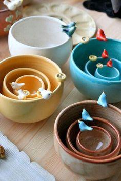 cute bird bowl