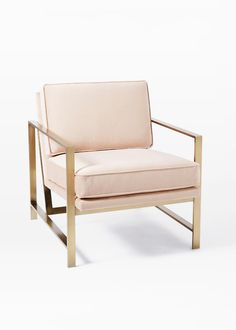 Metal Frame Upholstered Chair by West Elm
