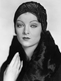 """Myrna Loy looks like a beauty as this flapper. I loved all the """"Thin Man"""" movies."""