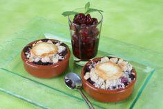 #recette : #crumble de fruits rouges au #fromage de #chevre. #Soignon
