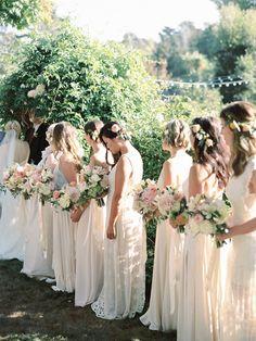 Bridesmaids Elegant Del Mar Garden Wedding