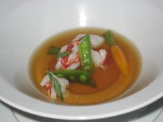 Lobster Bouillon from Benu. One of the top restaurants in the world