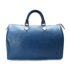 Louis Vuitton Speedy 35 Epi Handle bags Blue Leather M42995