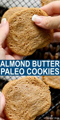 Easy Paleo cookies with only 5 ingredients needed. These simple flourless cookies are sure to become a regular! Easy Paleo cookies with only 5 ingredients needed. These simple flourless cookies are sure to become a regular! Keto Cookies, Almond Butter Cookie Recipe, Almond Cookies, Recipes With Almond Butter, Almond Butter Snacks, Peanut Butter, Galletas Keto, Patisserie Sans Gluten, Paleo Sweets