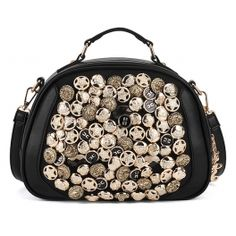 Cause I'm Different Ornament Black Handbag