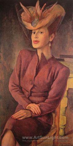 Diego Rivera's oil painting Portrait of Adalgisa Nery (Retrato de Adalgisa Nery) 1945