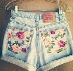 Levi's customised denim shorts