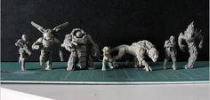 Puppets War Resin miniatures comparison