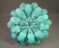 Vintage Bright Robin's Egg Blue  Enameled Flower by JBPacrat, $12.00
