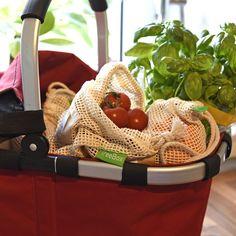 TreeBox Premium Obst- und Gemüsebeutel im 3er Set Picnic, Basket, Fruit And Veg, Stocking Stuffers, Shopping, Sachets, Packaging, Tips, Cotton