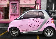 I'm driving my suped-up Hello Kitty car to the local Hello Kitty shop. Just another day in HK paradise!