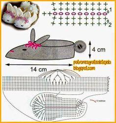 Zapatitos divertidos | Crochet y Dos agujas