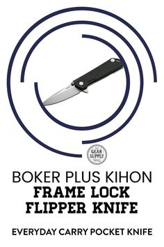 Looking for the Boker Plus Kihon Frame Lock Flipper Knife for your urban everyday carry gear? Save money on everyday carry premium pocket knives. Explore top-rated budget-friendly compact lightweight utility knives and other essential EDC gear at affordable prices from Gear Supply Company. #everydaycarry #edcknives #pocketknives #urbaneverydaycarry Urban Carry, Urban Edc, Edc Carry, Carry On, Edc Fixed Blade Knife, What Is Edc, Prepper Supplies, Edc Essentials, Everyday Carry Items