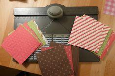 Schoko Adventskalender mit dem Envelope Punch bord  by Locata