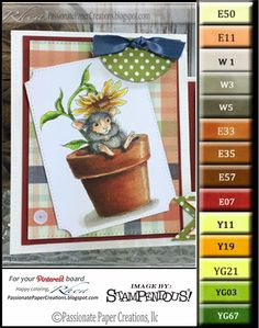 Passionate Paper Creations: Potted Mouse - Stampendous
