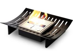 Contemporary Curved Fireplace Grate by EcoSmart Fire Fireplace Grate, Fireplace Remodel, Book Storage, Ways To Relax, Home Interior Design, Indoor, Contemporary, Architecture, Bathroom Designs