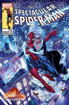 Peter Parker: The Spectacular Spider-Man #1 (2017) JSC Store Exclusive Variant C Cover by J. Scott Campbell
