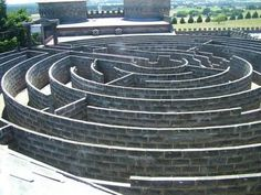 At last, a better picture of Kryal stone wall labyrinth, Kryal Castle, Ballarat, Victoria. Labyrinth Maze, Victoria Australia, Pilgrimage, Places To See, Paths, Cool Pictures, Beautiful Places, Architecture, World