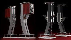 Mono and Stereo High-End Audio Magazine: JTL audio professional speaker stand li High End Speakers, Monitor Speakers, Diy Speakers, High End Audio, Fi Car Audio, Hifi Audio, Audio Stand, Audio Design, Dj Equipment