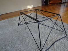 Mid Century Cats Cradle Coffee Table Base  Raw Steel by popcelona, $80.00