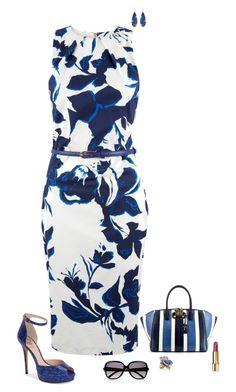 """""""Blue floral"""" by julietajj on Polyvore featuring moda, Closet, Vince Camuto, VBH, Chloé, Oscar de la Renta y Chanel"""